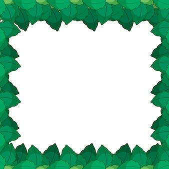 Quadro de natureza verde leafe