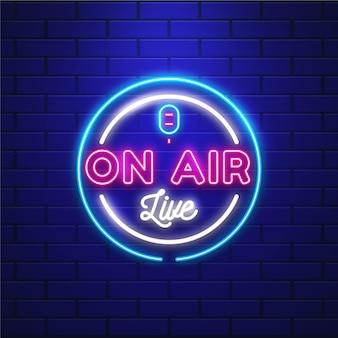 Quadro de néon ao vivo no ar