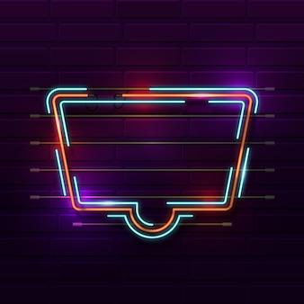 Quadro de néon de cor brilhante