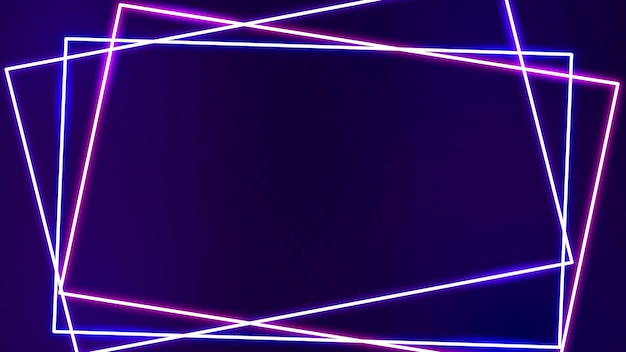 Quadro de néon rosa em um vetor de fundo roxo escuro