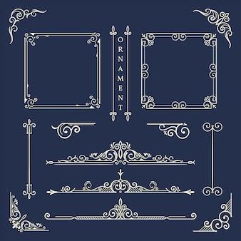 Quadro de ornamento clássico