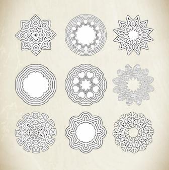 Quadro de ornamento do círculo