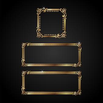 Quadro de ouro vetor de luxo