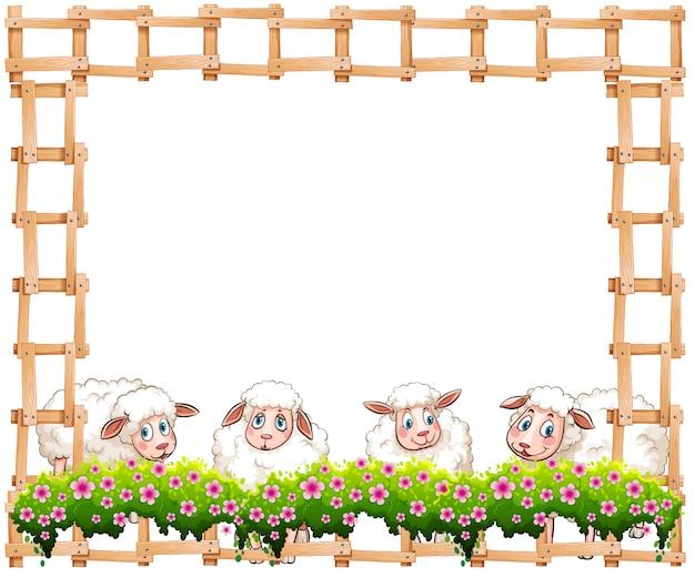 Quadro de ovelhas