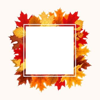 Quadro de queda de folhas de outono
