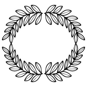 Quadro de ramos de coroa de ano novo. decoração de natal.
