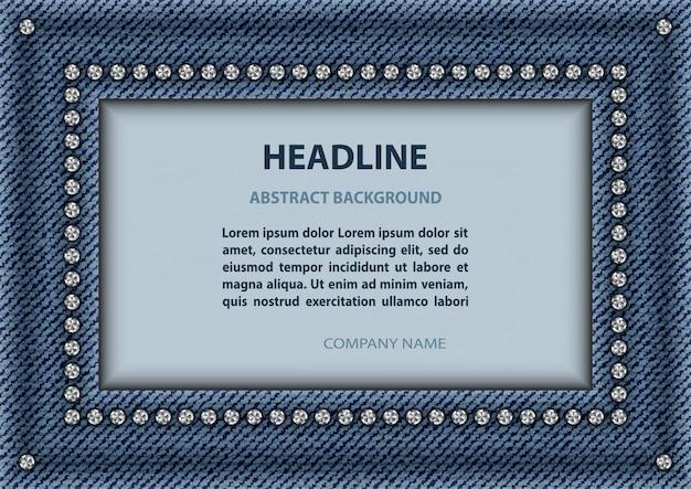 Quadro de retângulo de jeans