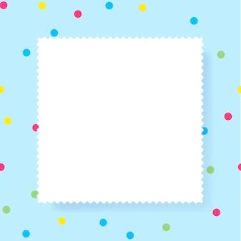 Quadro de retângulo de papel vazio branco com espaço de cópia de texto.