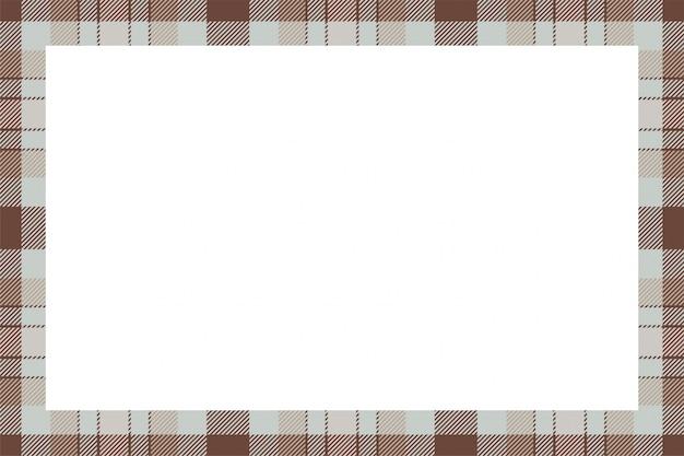 Quadro de retângulo tartan escocês