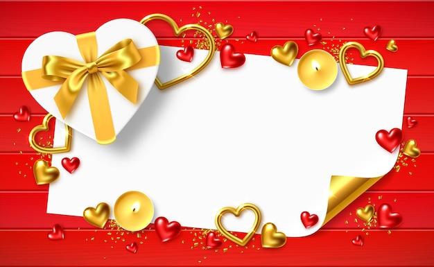 Quadro de saudação de feriado do dia dos namorados