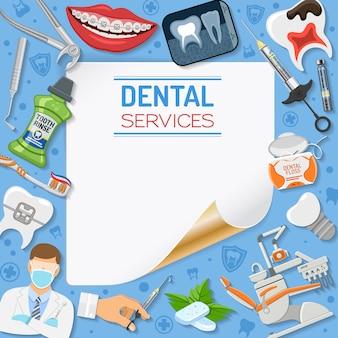 Quadro de serviços odontológicos