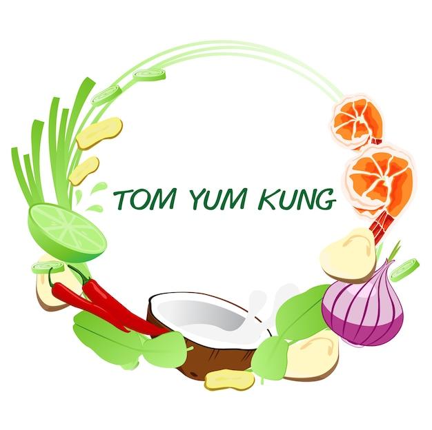 Quadro de tom yum kung.