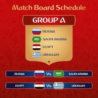 Quadro de torneios com decoração étnica russa