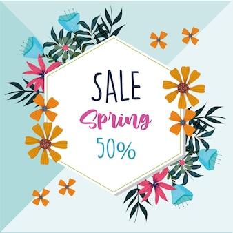 Quadro de venda de primavera