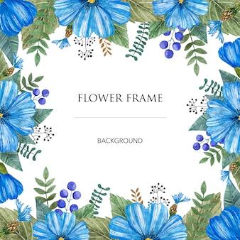 Quadro de vetor de aquarela de coloridas flores silvestres.