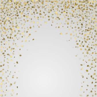 Quadro de vetor de confetes de ouro.