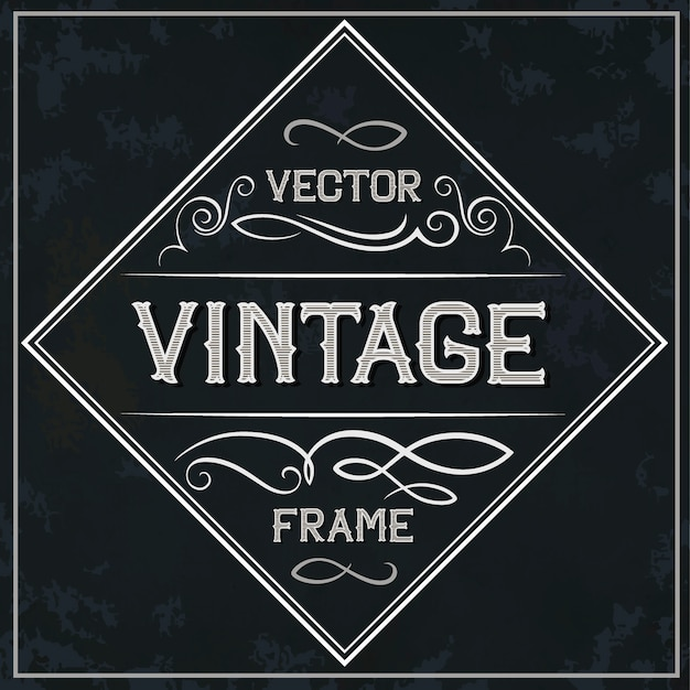 Quadro de vetor - decoração de texto vintage. monograma
