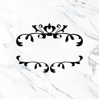 Quadro de vetor elegante ornamento preto floreio