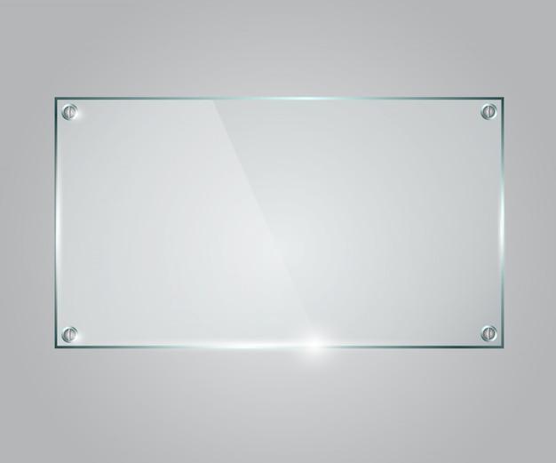 Quadro de vidro de vetor.