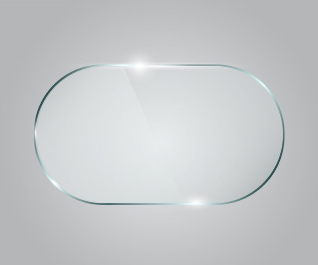 Quadro de vidro do vetor