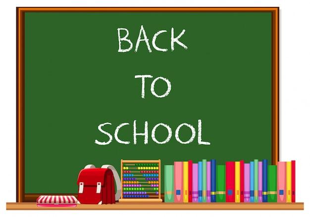 Quadro de volta à escola