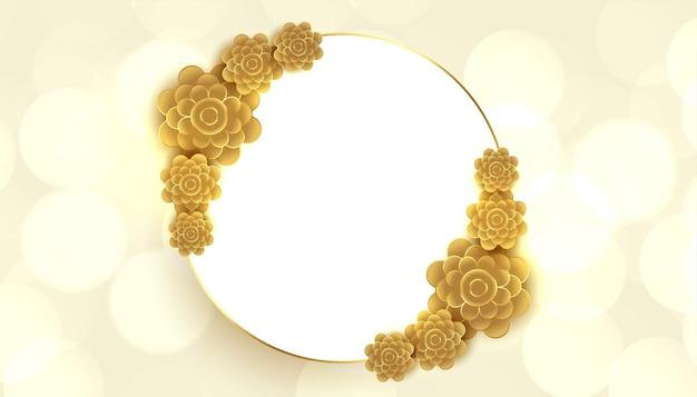 Quadro decorativo de fundo de flor dourada