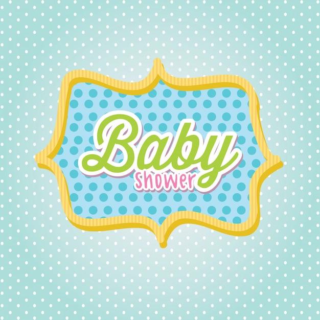 Quadro do chuveiro de bebê