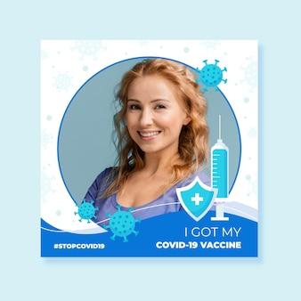 Quadro do facebook do coronavirus com elementos desenhados