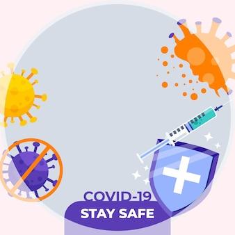 Quadro do facebook do coronavirus para a foto do perfil