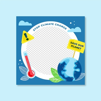 Quadro do facebook sobre mudança climática