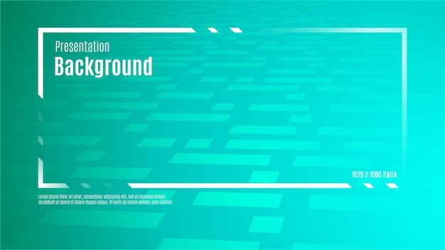 Quadro do título da apresentação no fundo verde gradiente com textura de forma abstrata