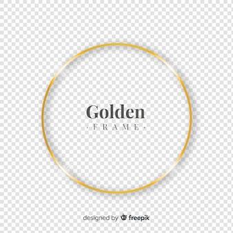 Quadro dourado realista circulado