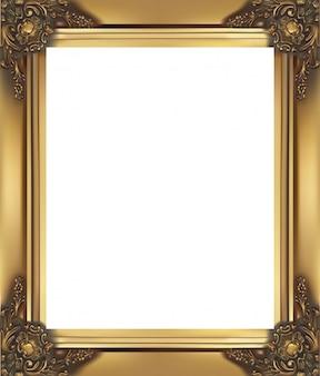 Quadro dourado vintage e clássico