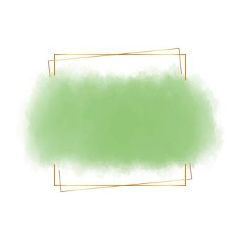 Quadro em aquarela com linhas douradas