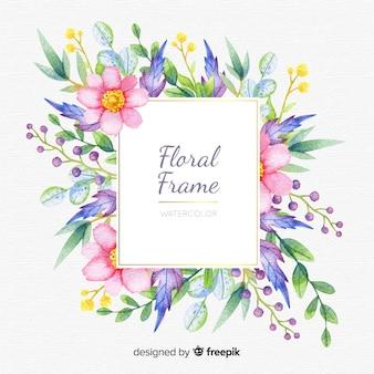 Quadro floral aquarela colorida