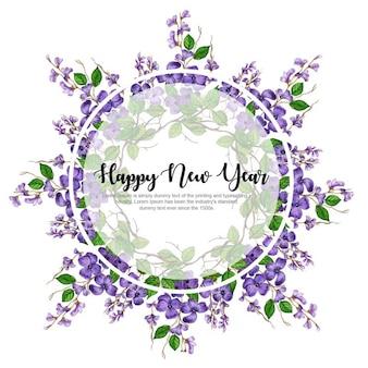 Quadro Floral Aquarela de ano novo