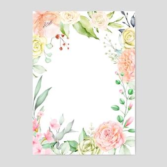 Quadro floral aquarela fundo multiusos