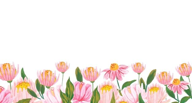 Quadro floral aquarela isolado no branco