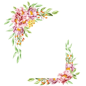 Quadro floral aquarela