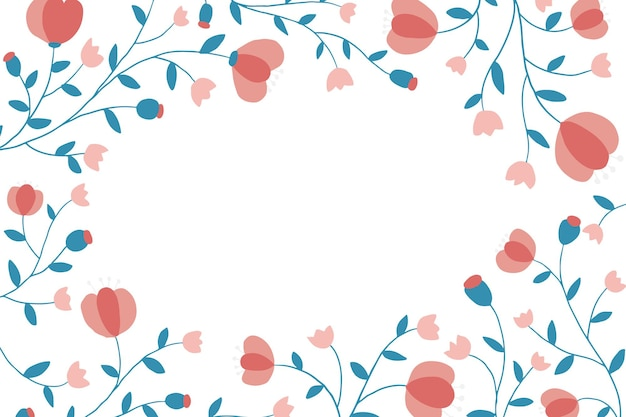 Quadro floral colorido sobre fundo branco