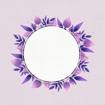 Quadro floral com espaço em branco
