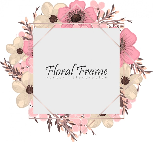 Quadro floral com flor colorida.