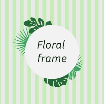 Quadro floral com folhas tropicais