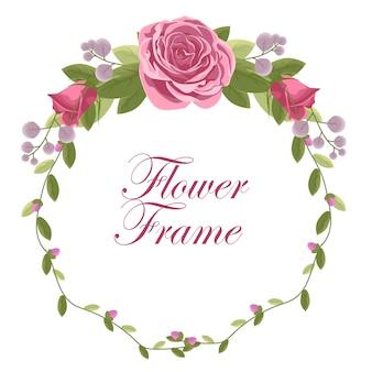 Quadro floral com rosa