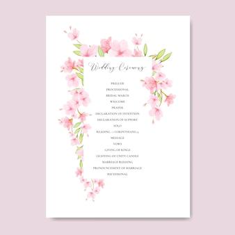 Quadro floral da flor de cerejeira do casamento