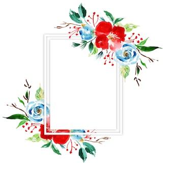 Quadro Floral de aquarela feliz Natal