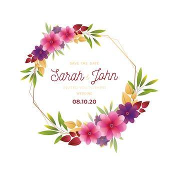 Quadro floral de casamento