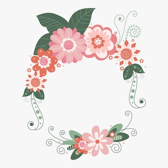 Quadro floral de vetor com flores