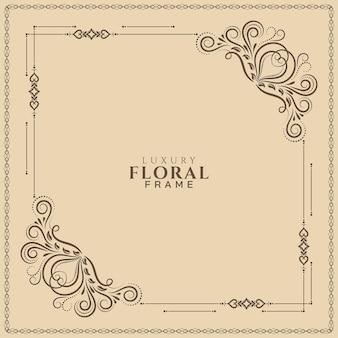 Quadro floral decorativo abstrato elegante fundo