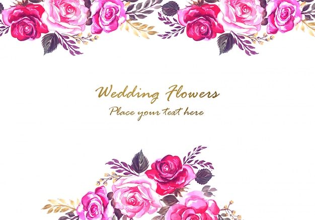 Quadro floral decorativo de aniversário de casamento lindo